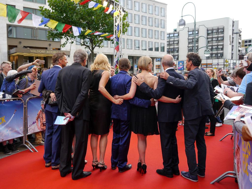 """Der Cast von """"Hectors Reise"""" bei der Premiere in Berlin"""