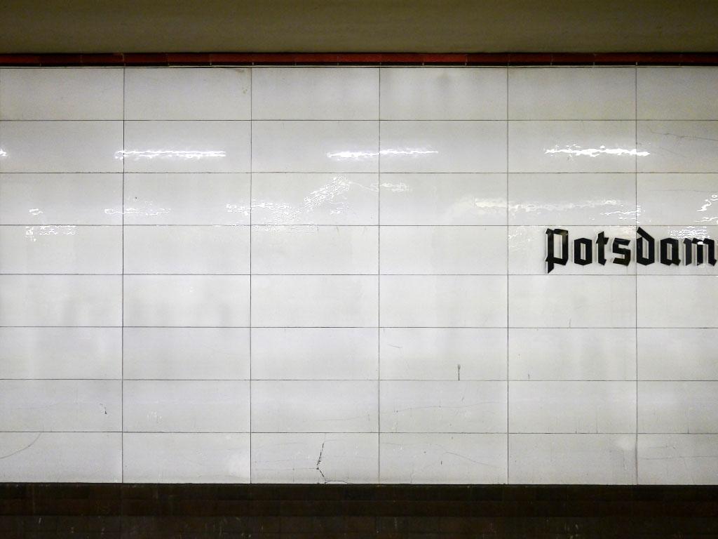 S-Bahnhof Potsdamer Platz - Wandstruktur