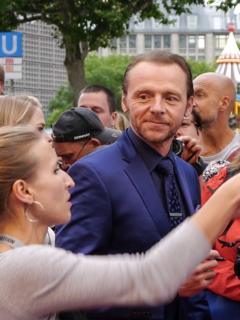 """Simon Pegg bei der Premiere von """"Hectors Reise"""" in Berlin"""