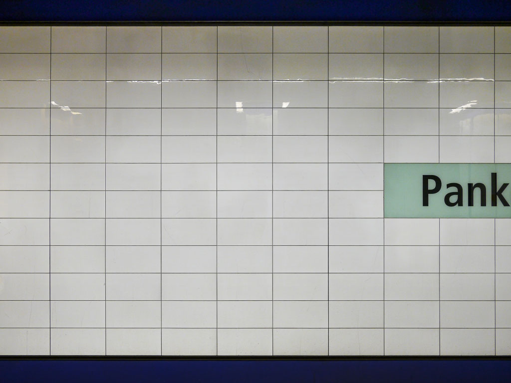 U-Bahnhof Pankow - Wandstruktur
