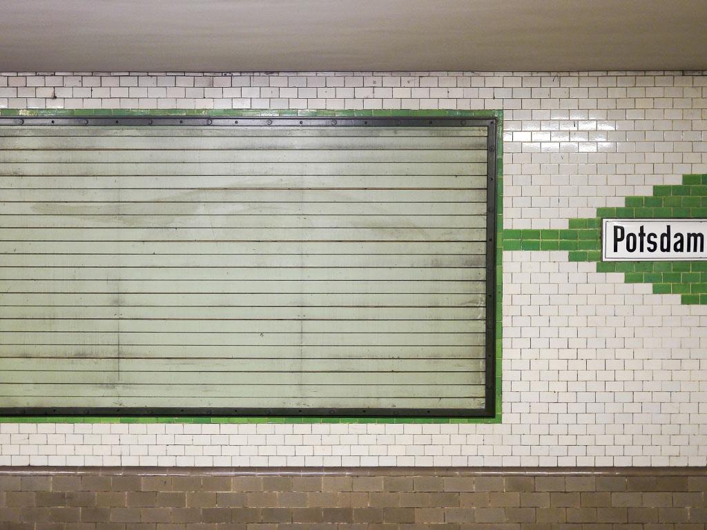 U-Bahnhof Potsdamer Platz - Wandstruktur
