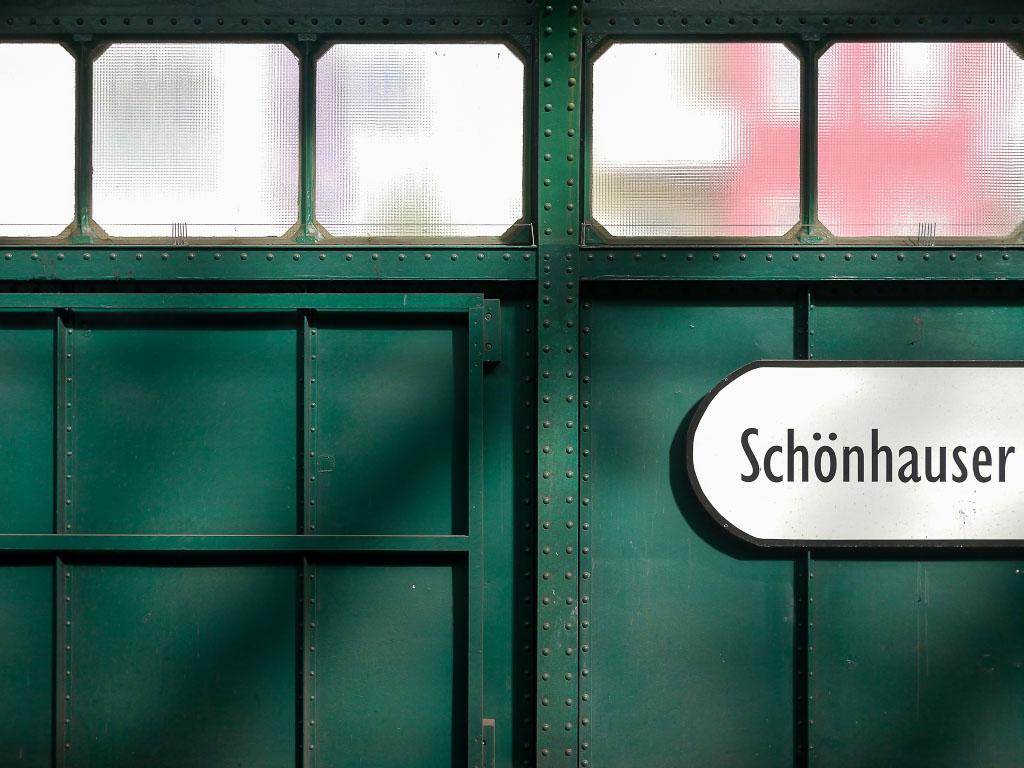 U-Bahnhof Schönhauser Allee - Wandstruktur