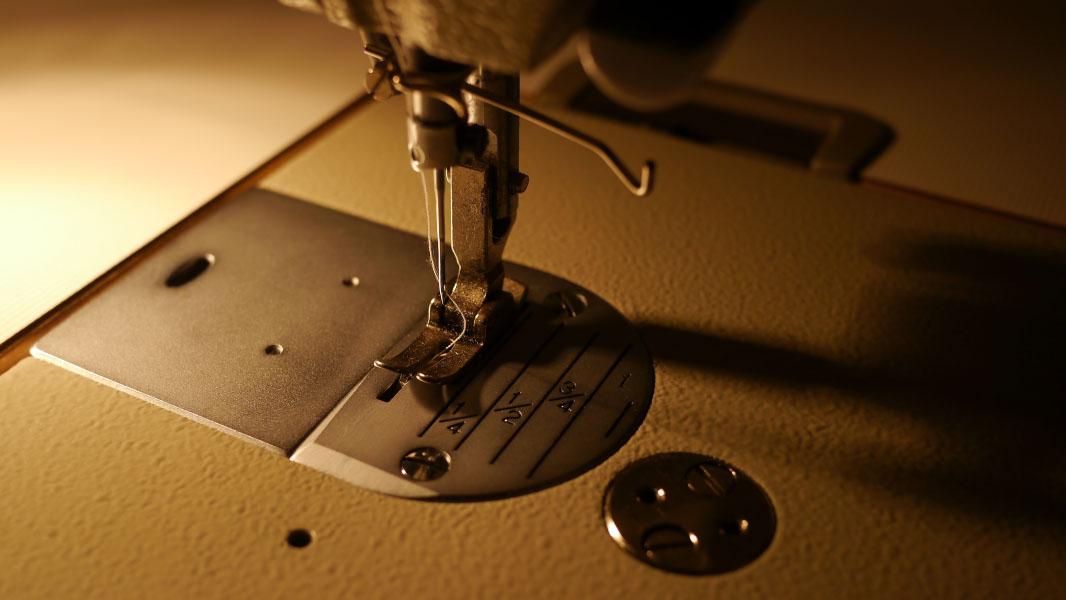 Steppfuß einer Industrienähmaschine