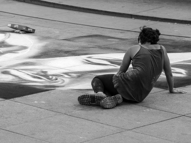 Streetart auf dem Alexanderplatz