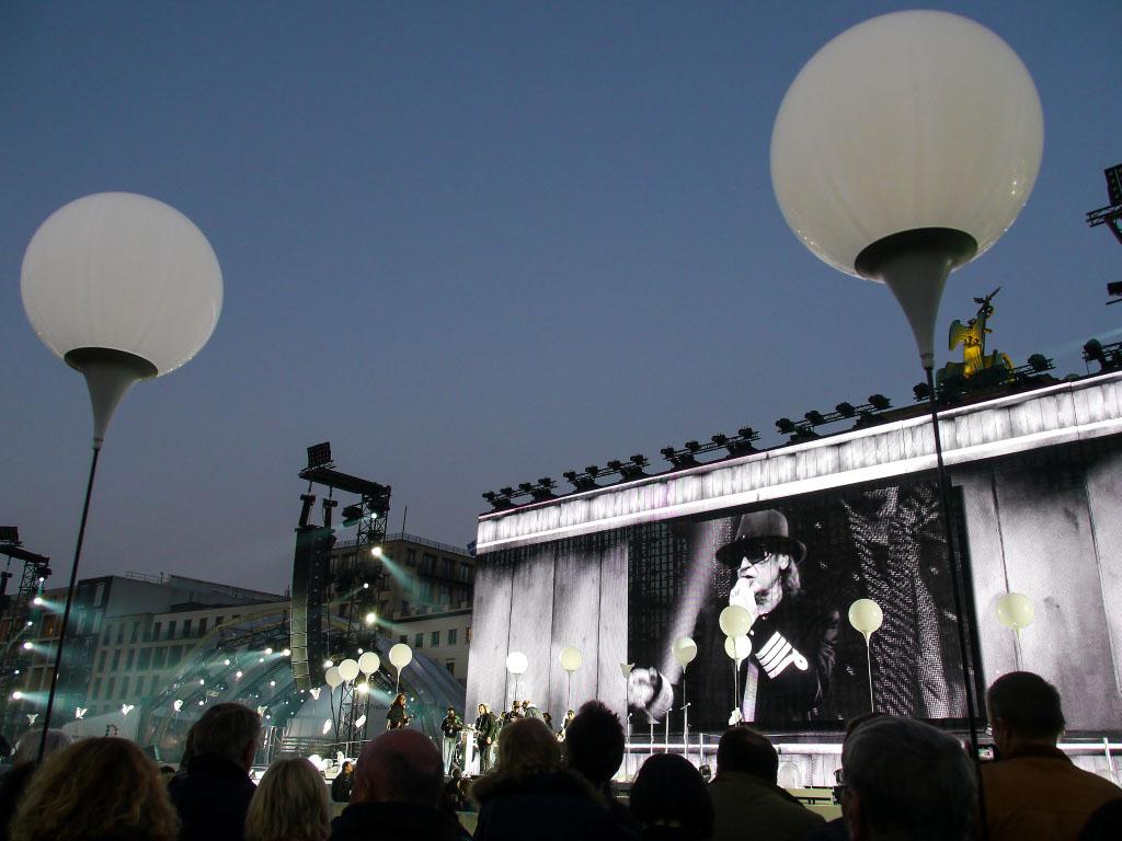 Brandenburger Tor - Udo Lindenberg bei der Generalprobe