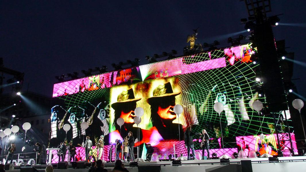 Bühne vor dem Brandenburger Tor - 25 Jahre Mauerfall