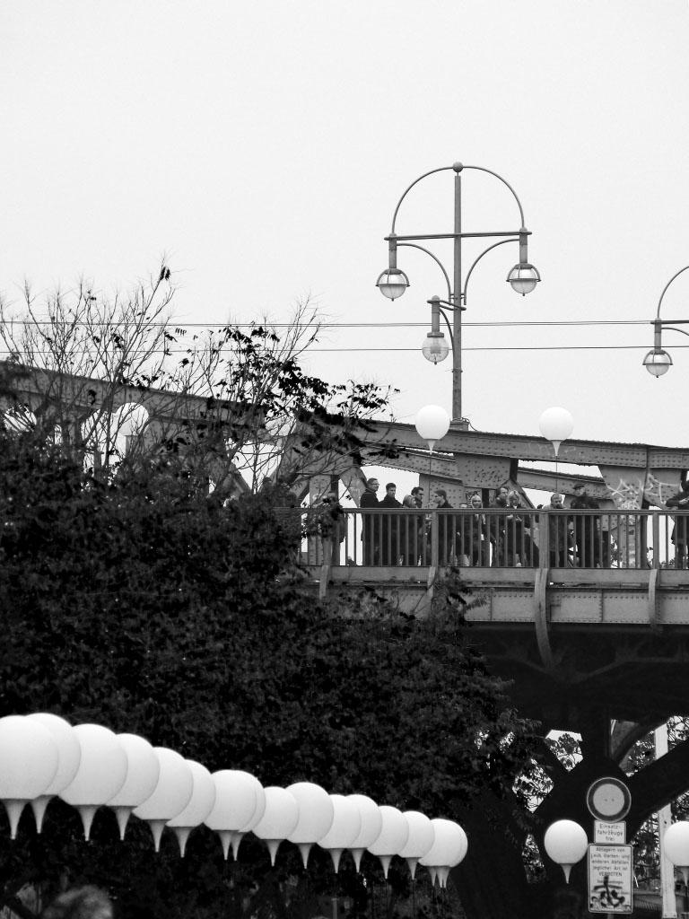 Lichtgrenze an der Bornholmer Brücke
