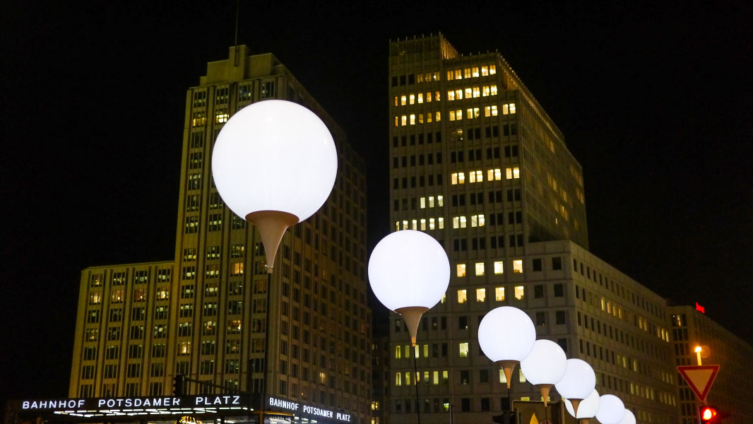 Lichtgrenze auf dem Potsdamer Platz