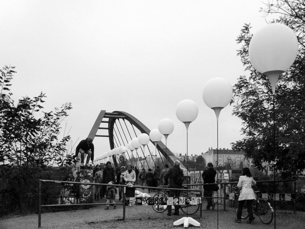 Lichtgrenze Berlin am Schwedter Steg