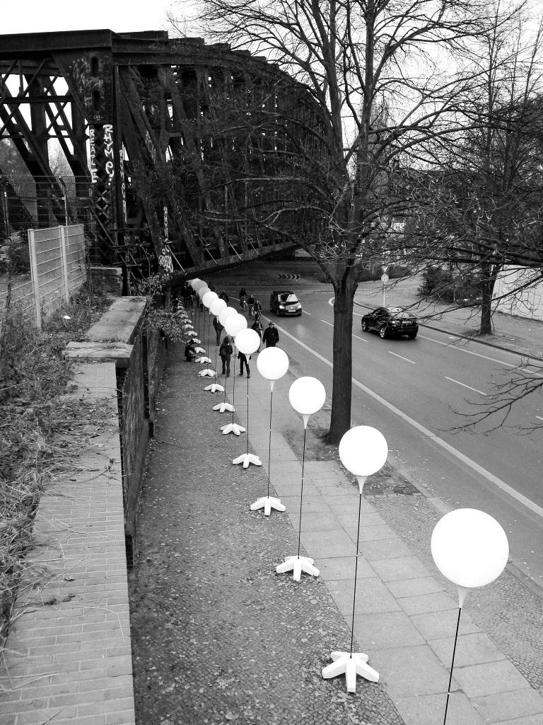 Liesenbrücken - Lichtgrenze zum 25. Mauerfall-Jubiläum