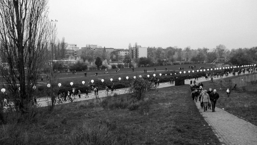 Mauerpark - Lichtgrenze 25 Jahre Mauerfall