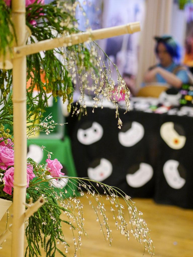 Blumendeko auf dem - Japan Festival 2015 in Berlin