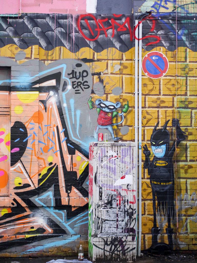 Batman Graffiti - Urban Spree Berlin