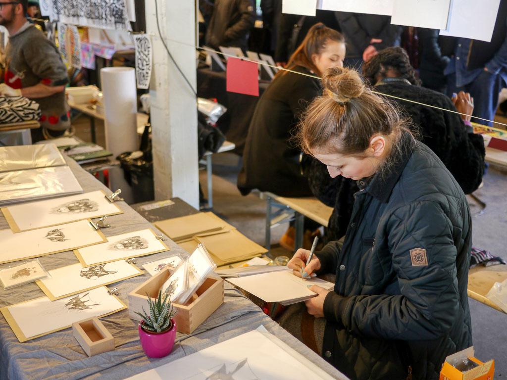 Künstlerin bei den Berlin Graphic Days 2015