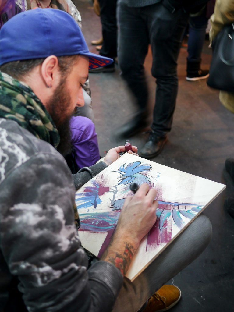 Xavier Thilly Live painting - Berlin Graphic Days 2015
