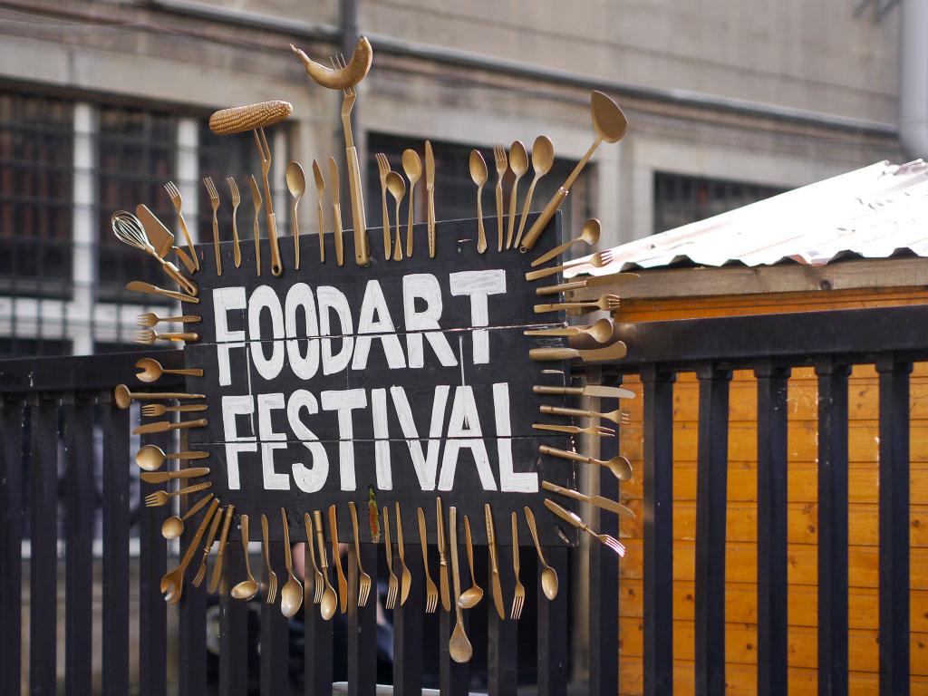 Foodart Festival Berlin - Eingangsschild