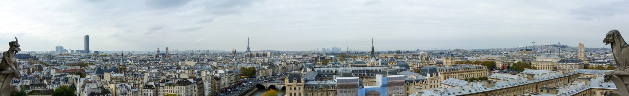 Panorama vom Notre Dame in Paris