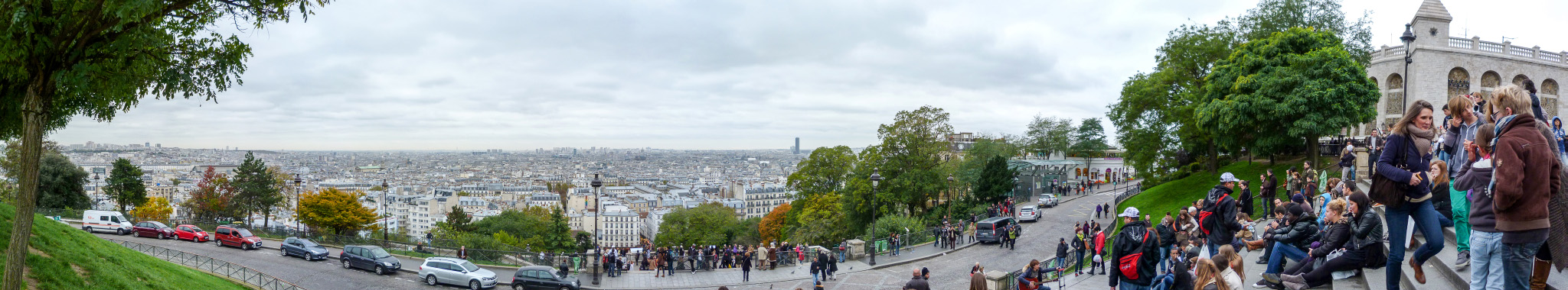 Panorama vom Sacré-Cœur in Paris