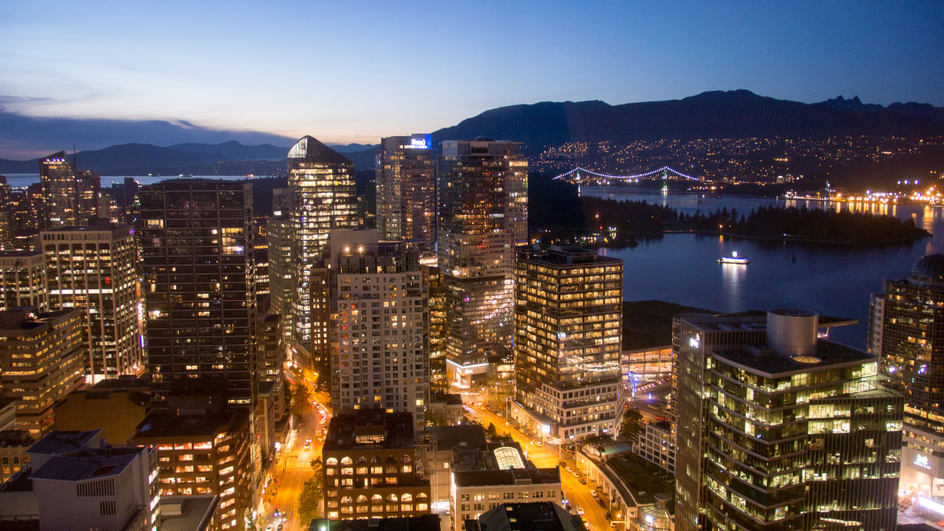 Vancouver bei Nacht