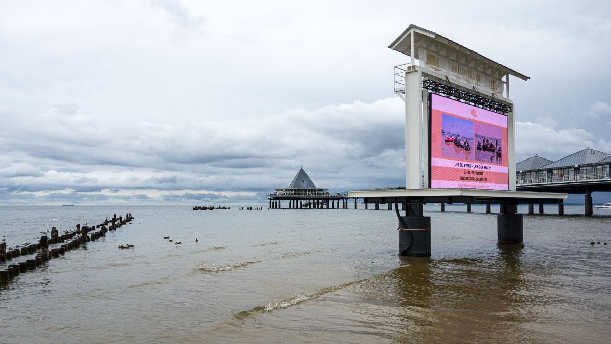 Videowand in Heringsdorf an der Ostsee