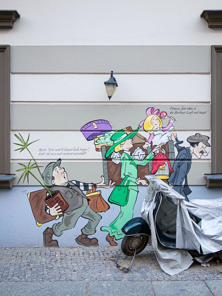 Zille-Graffiti im Kollwitzkiez