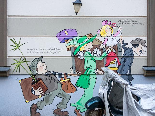Heinrich Zille Graffiti in der Hagenauer Straße
